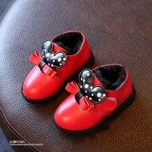 YNB Hiver bébé chaussures nouveau dessin animé de mode filles bottes 2017 marque haute qualité pu chaussures pour filles enfants rouge noir bottes pour filles