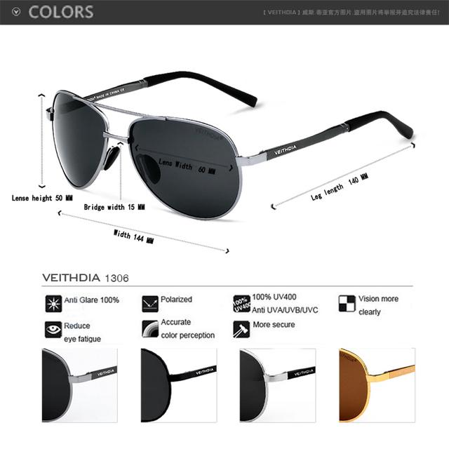 Men Polarized UV400 Eyes Protect Sports Coating Sunglasses Veithdia