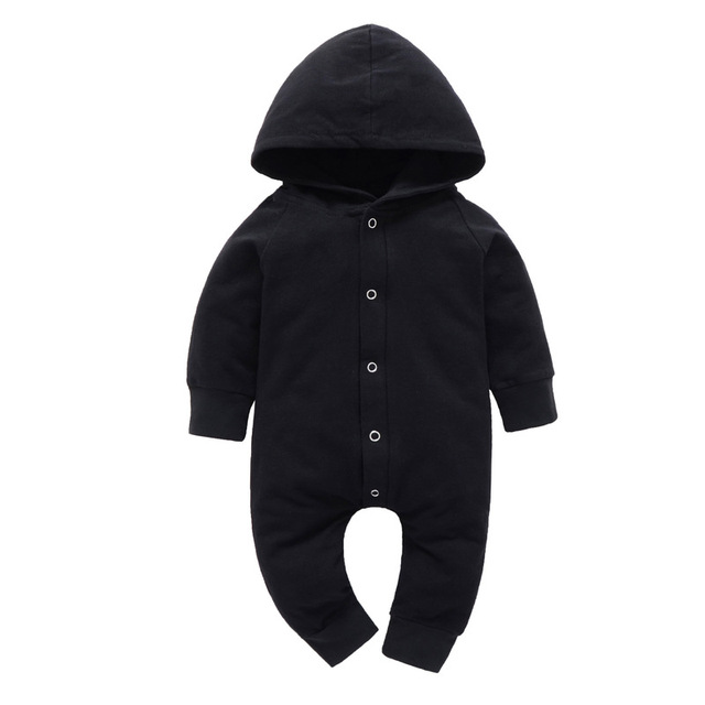 dc63e9dc9 2018 Spring Autumn Cotton Newborn Baby Boy Kids Pure black Long ...