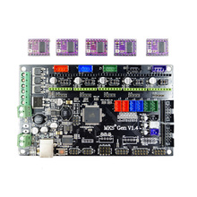 4 layers PCB controller board MKS Gen V1.4 integrated mainboard compatible Ramps1.4/Mega2560 R3 with 5pcs DRV8825 and usb cable