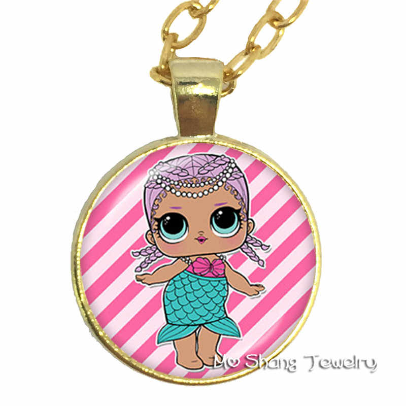 Yanhong Jewelry Doll  Glass Pendant Necklace Display Handheld Baby Surprise Action Children's Birthday Party Gift
