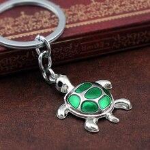 Светодиодная подсветка для ключей и брелоки черепаха Зеленая Черепаха Ключ Цепочки, аксессуары для Для женщин& Для мужчин Модные украшения