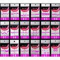 100 pcs Ponta Francesa do Manicure Guides, projeto da arte do prego 3d sticker decoração decoração, decalques para unhas patch