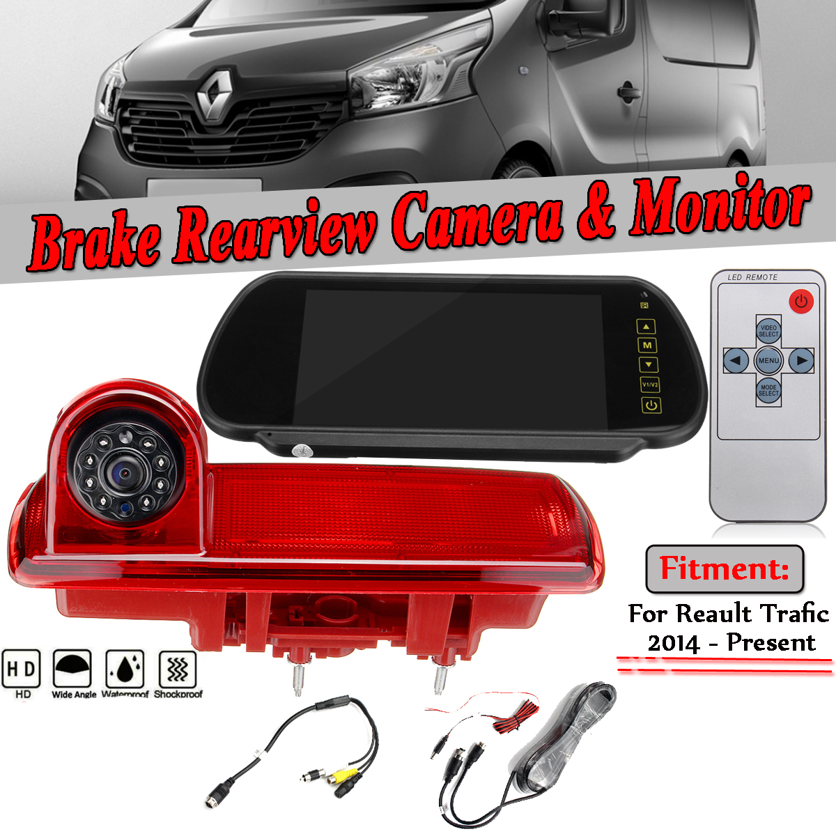 Car Rear View Brake Light Backup Camera For OPEL VAUXHALL VIVARO RENAULT Trafic Auto Parking Backup Camera