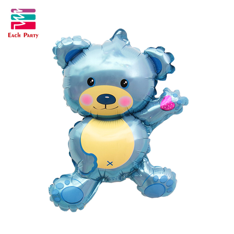 36 inch Giant Teddy Bear Cartoon folie ballonnen Kids cartoon Vorm - Feestversiering en feestartikelen - Foto 3