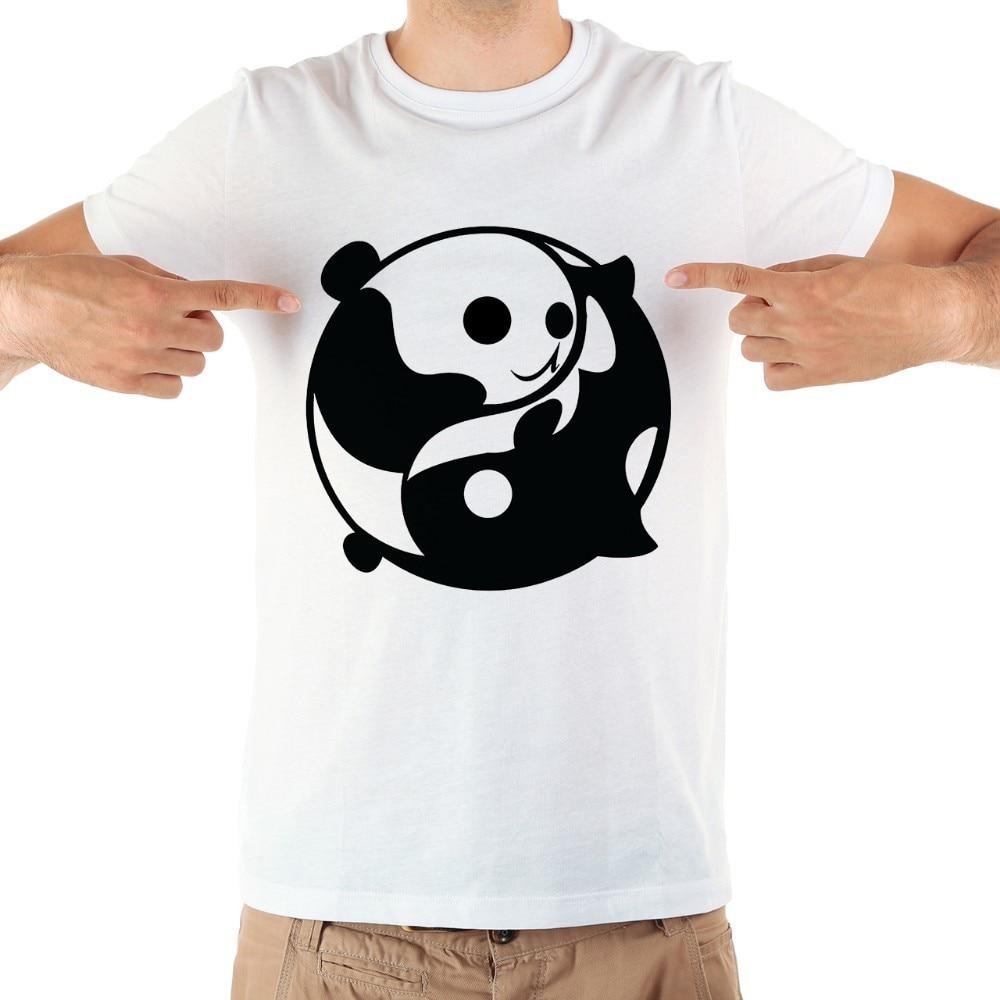 Hearty Lbl 2019 Simple Creative Design Line Panda Print Cotton T Shirts Short Sleeve Men Short Sleeves Cotton Tops Cool T Shirt Summer Home