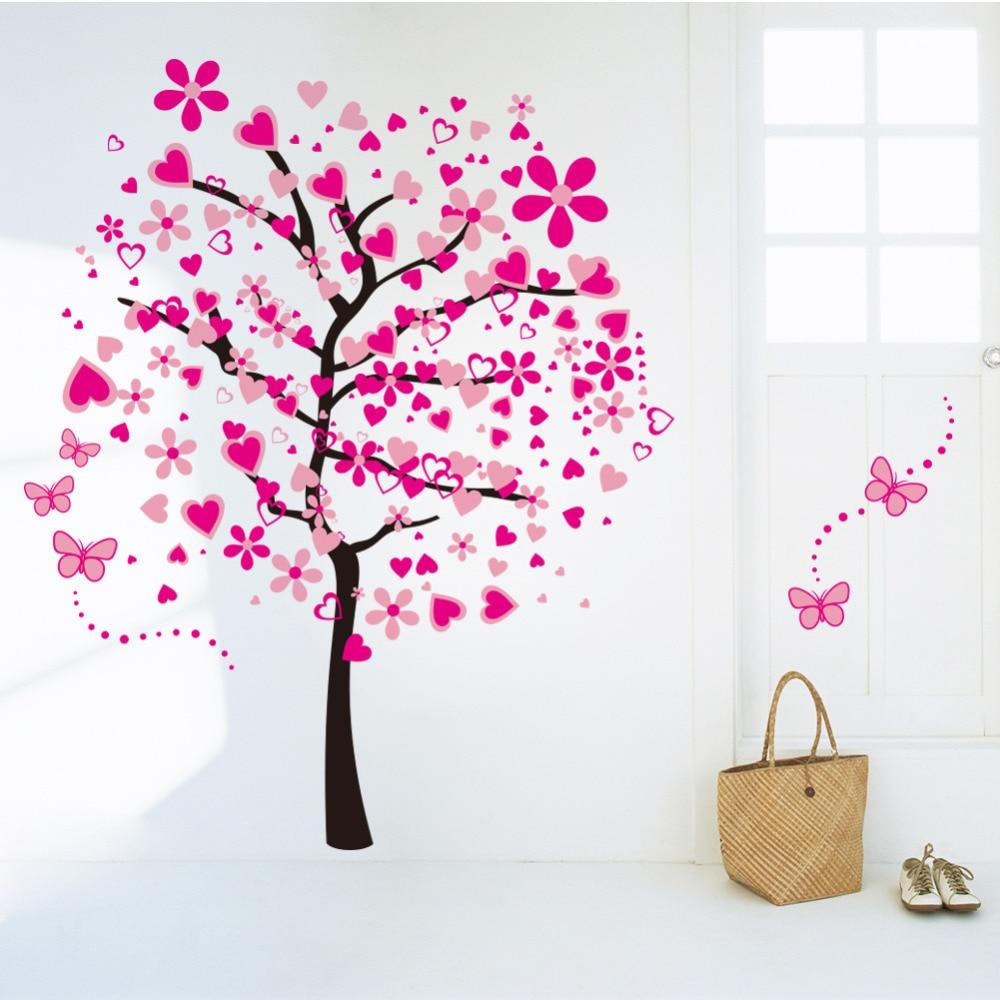 Nueva llegada DIY papel pintado grande para Rosa Flor de mariposa ...