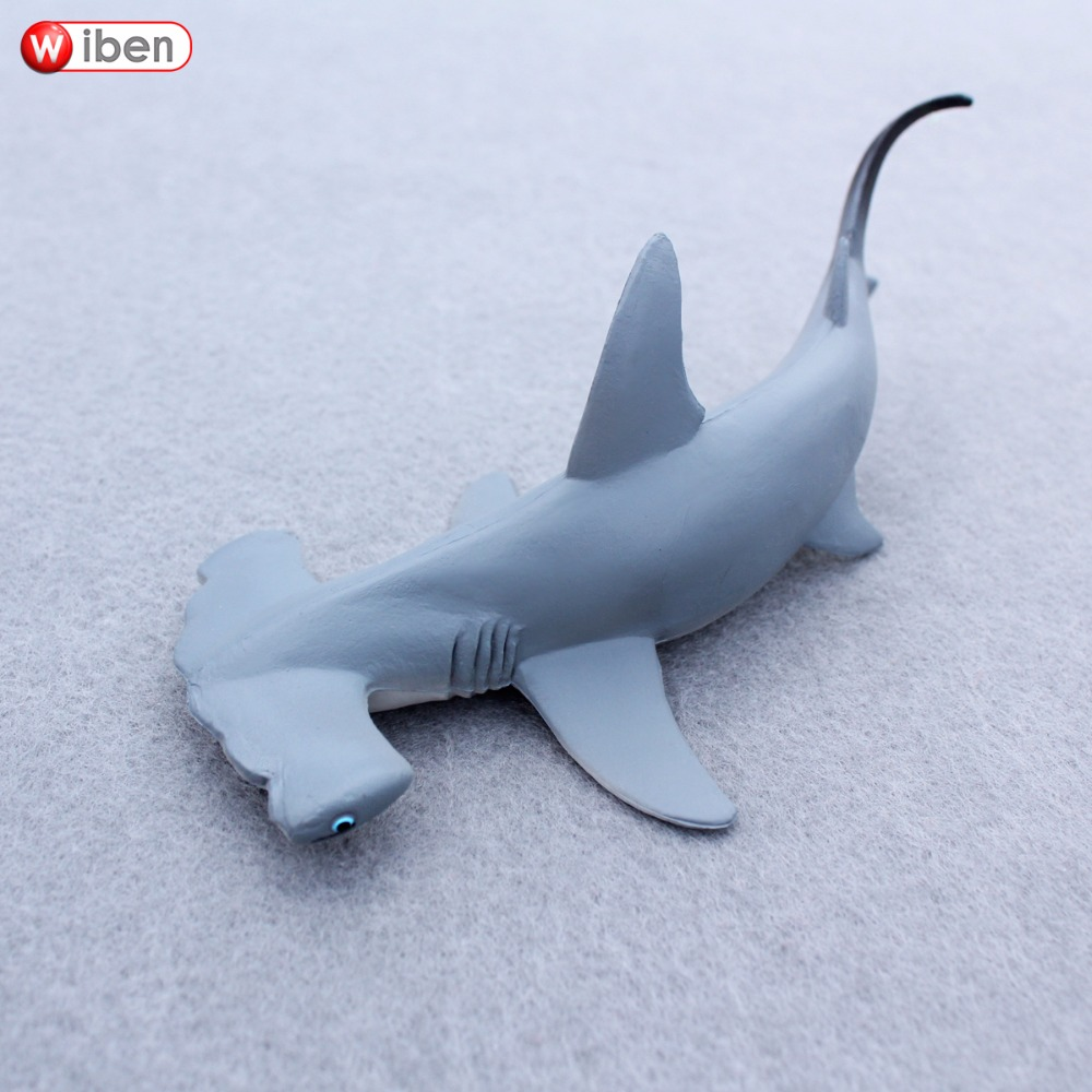 Wiben Sea Life Hammerhead Shark Sphyrna Zygaena Aquatic Creatures Wild Animals Toys Set Zoo Modeling Plastic Solid Fish Model mr froger carcharodon megalodon model giant tooth shark sphyrna aquatic creatures wild animals zoo modeling plastic sea lift toy