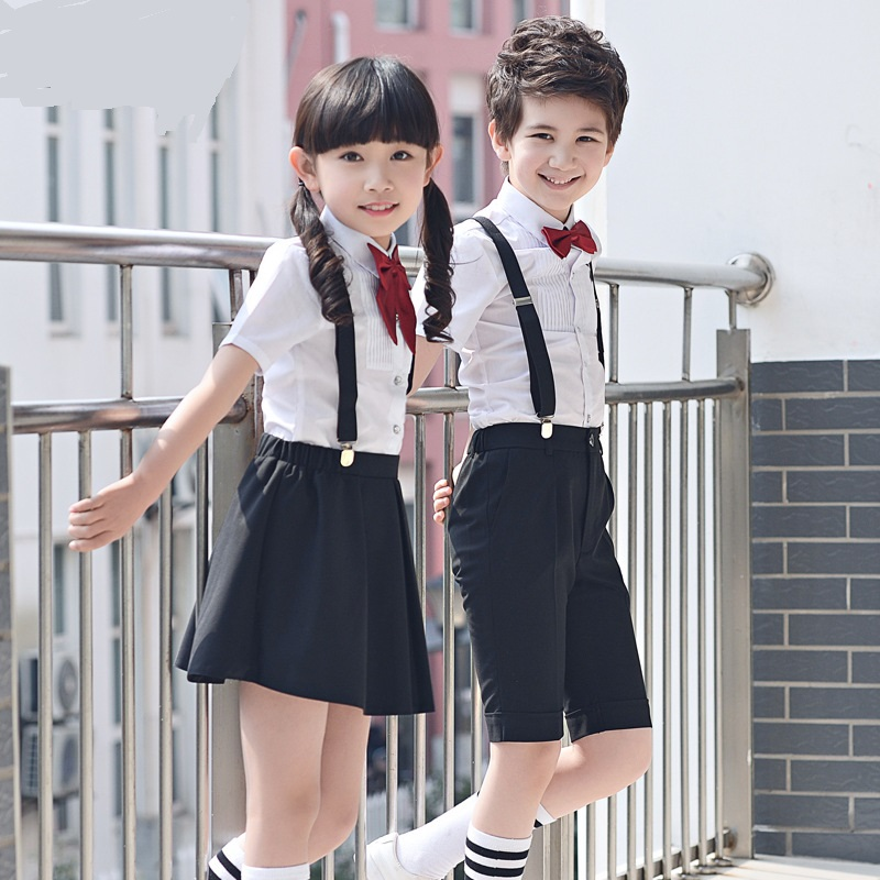 t003 Children's 100-180cm Costumes Performance clothing for primary and secondary school uniforms Boy and Girl Set