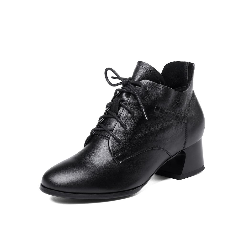 Véritable Cuir Bureau Cheville Sabot Bottes Elegan Up Chaussures Talons Spéciale De Femmes Mode Offre Nouveau Noir gris Dentelle Sarairis Design En xTqSY0Uw