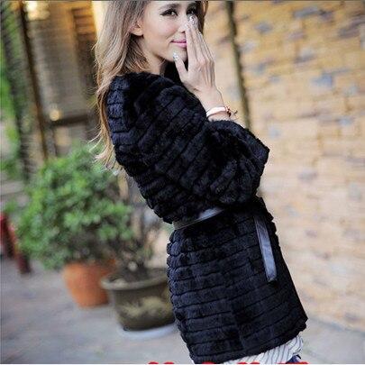 Online Buy Wholesale black rabbit fur coat from China black rabbit