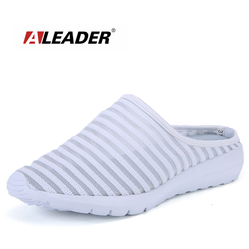 ALEADER Breathable Womens Casual Shoes Summer Mesh Slip On Fashion Sneakers Indoor House Women Slippers Comfortable