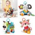 Actividad y engranaje del bebé baby toys bebé sonajeros y móviles educativos toys niños niñas animales de peluche de felpa cama cuna windbell