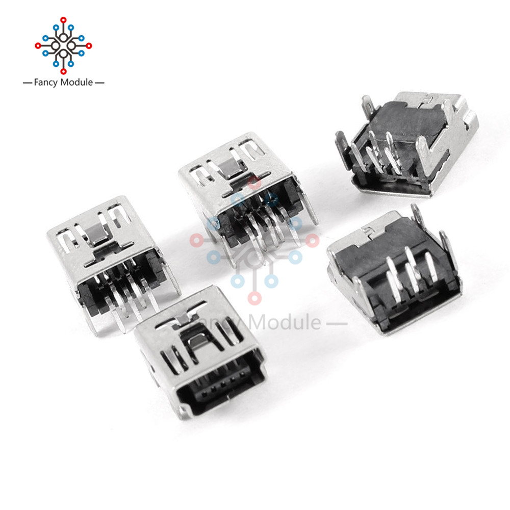 20 Pcs USB Female Type A 4-Pin DIP Right Angle Plug Jack Socket Connector LW