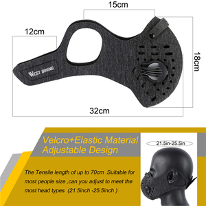 Image 3 - WEST BIKING Cycling Face Mask Dustproof Activated Carbon Half Face Training  Mask With PM2.5 Filter Washable MTB Bike Face Cover