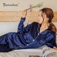 Silk Pajamas For Women Satin Women Pajamas Sets Pijamas De Manga Larga Para Mujer