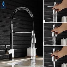 Ulgksd смеситель для кухни 3 типа воды на выходе Chrome Весна кухонной мойки faucedeck установлен горячей или холодной воды смесители