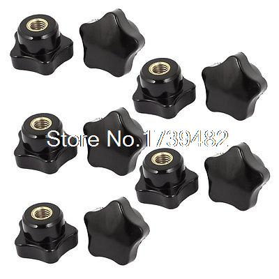 10 Pcs M6 x 32mm Plastic Star Head Clamping Nuts Lever Trend Wing Thumb Knob