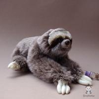 Simulation Stuffed Animal Toy Three Toed Sloth Doll Wildlife Dolls Cute Toy Christmas Present