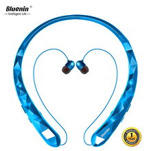 Bluenin BBH-919 Wireless Bluetooth Earphone Sport Neckband Retractable Earbuds Sweatproof Earpiece for iphone