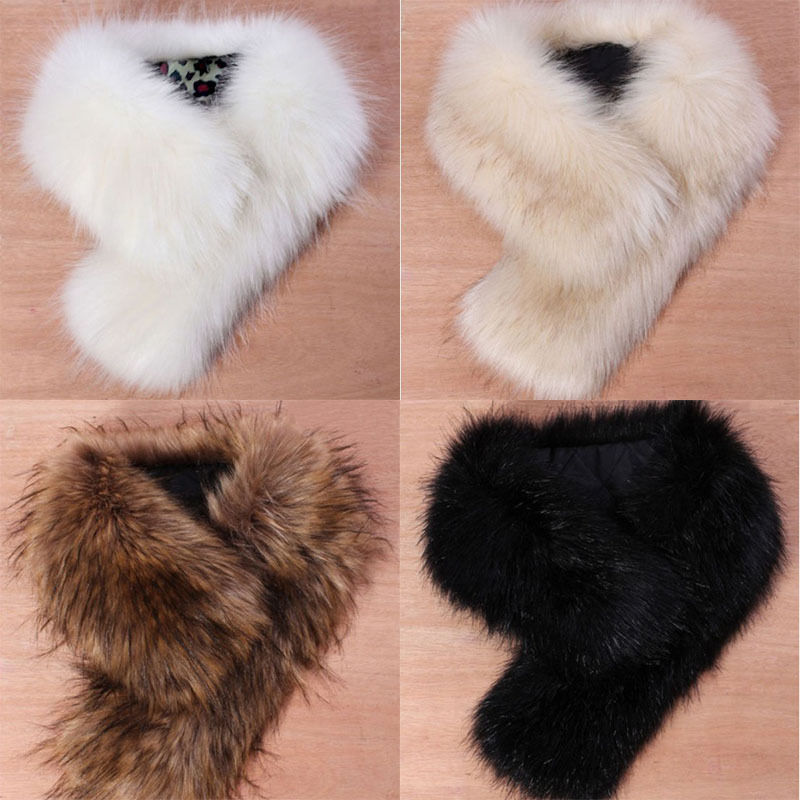 ITFABS Newest Arrivals Fashion Hot Women's Fluffy Winter Faux Fur Collar Scarf Scarves Shawl Wrap Stole Pelage NEW