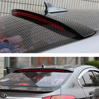 For Kia Cerato K3 roof Spoiler High Quality ABS Material Car Rear black Rear roof Spoiler For Kia K3 Spoiler 2011 2018