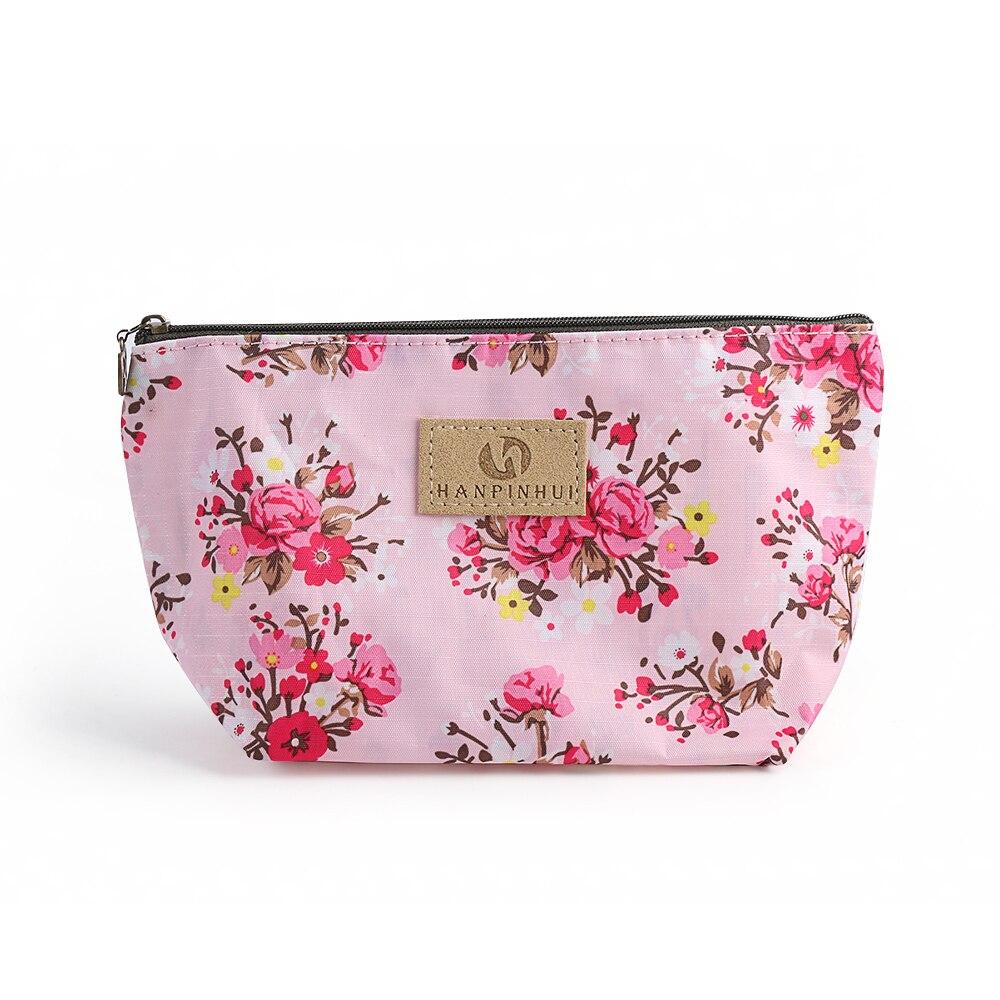 Women Cosmetic Bag Vintage Floral Printed Makeup Bags ...
