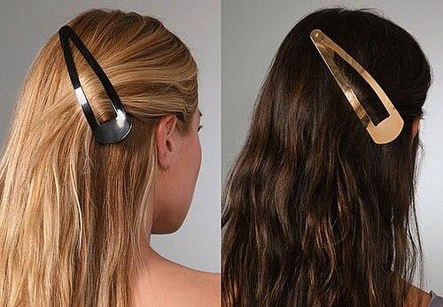 2pcs/lot High-quality women   headwear   Solid black big Snap Hair Clips 85mm bobby pin hair hairpins Barrettes hair accessories