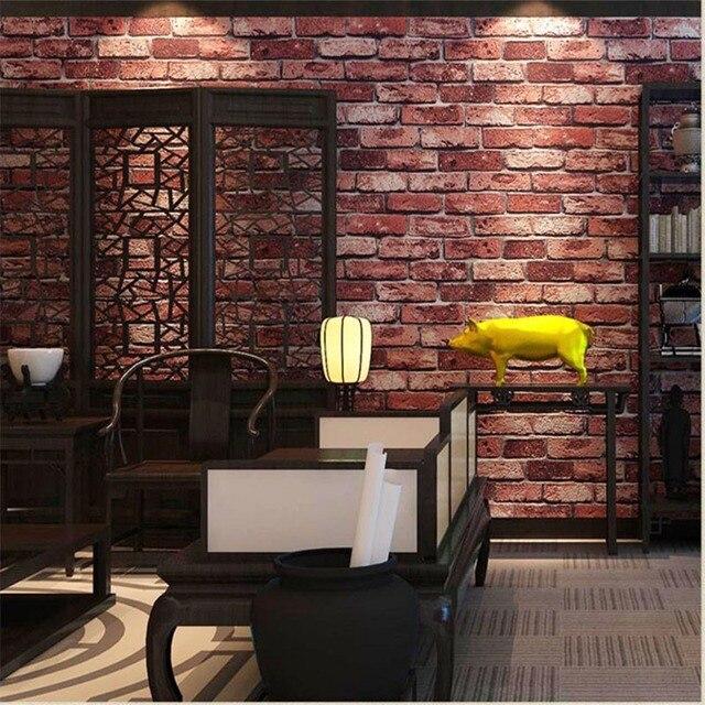 Beibehang Usine Directe Papier Peint Pvc Brique Epaisse Astuces 3d