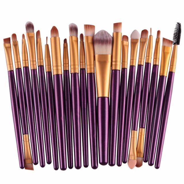 20pcs/set Makeup Brushes Pro Blending Eyeshadow Powder Foundation Eyes Eyebrow Lip Eyeliner Make up Brush Cosmetic Tool 2