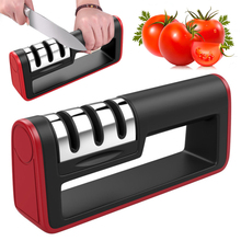 1PC 3 Stages Professional Knife Sharpener Kitchen Sharpening Stone Tungsten Steel and Ceramic Kitchen Knives Accessories cheap Sharpeners Stainless Steel Eco-Friendly Stocked CE EU LFGB