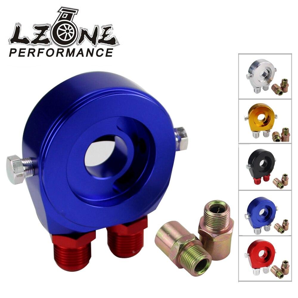 LZONE-Universel Aluminium filtre à huile sandwich adaptateur Sandwich Huile Adaptateur Filtre Refroidisseur Plaque Kit AN10 JR6721