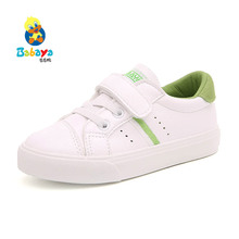 children sports shoes white shoes autumn 2017 new tide green tail female children's shoes, white casual shoes fashion version