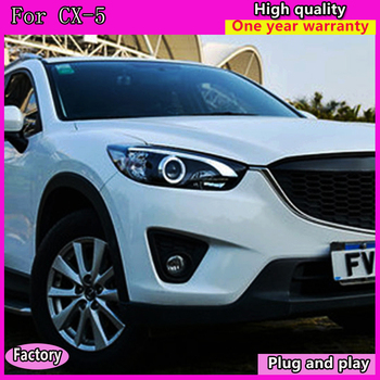 Car Styling for Mazda CX-5 Headlights 2011-2015 CX5 LED Headlight DRL Bi Xenon Lens High Low Beam Parking Fog Lamp