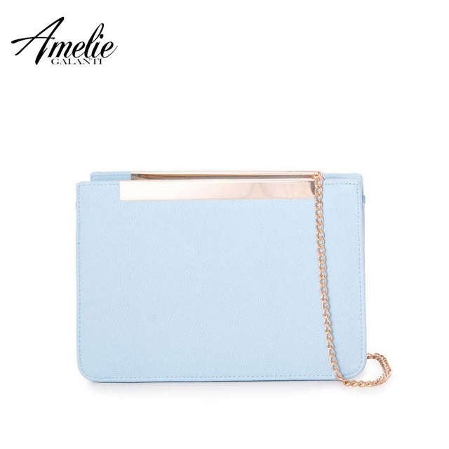 Amelie Galanti 2016 nova moda Evening bag sólidos bag flap bag mulheres bolsa frete grátis