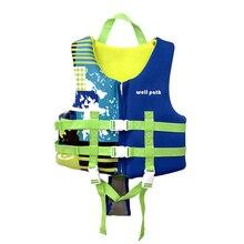 Детский профессиональный спасательный жилет для подводного плавания, небольшой жилет с ремнем, защитный спасательный жилет, безопасный купальник для плавания