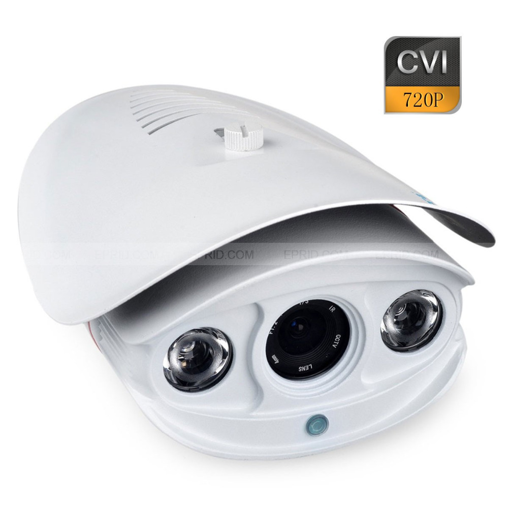 HD-CVI Security Bullet Camera CVI 720P 1.0MP 2 Array IR LEDs 6mm Lens hd cvi array ir outdoor bullet security camera 6mm lens 1 0 mp night vision
