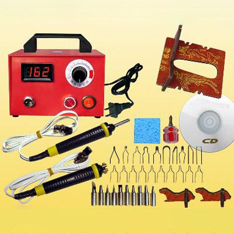 Pyrography Machine 220V 50W Multifunction Gourd Wood Burning Pen Craft Tool Kits