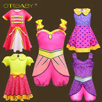 OTISBABY New Year Lol Girl Dress for 2 3 4 5 6 7 8 9 10 11 12 Years Teenager Beauty Girls Print Floral Rainbow Prom Dress Infant