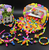 High quality DIY plastic Beads Toys for children boys gift Educational Learning Education