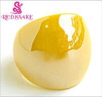 Красная змея модное кольцо ручной работы лимонно-желтый с жемчужной текстурой Блестящий муранское стекло кольца