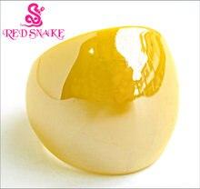 Красная змея модное кольцо ручной работы лимонно желтый с жемчужной