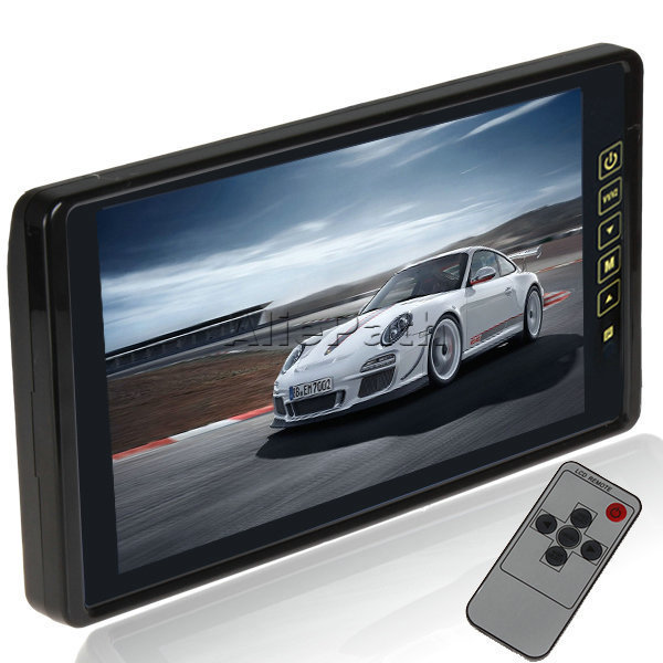 New Car Parking Rearview Reverse Monitor with 2 Video Output PAL / NTSC 9 Inch TFT LCD HD Ultra Big Touch Screen