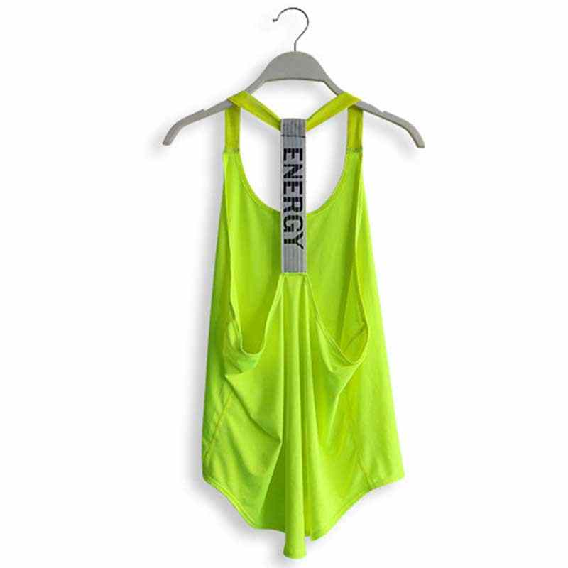 Women Pro Quick Dry Compress Fitness Sporting Tank Top Exercise Runs Yogaing Workout Vest Gymming T Shirt Bodybuilding Tee 2011