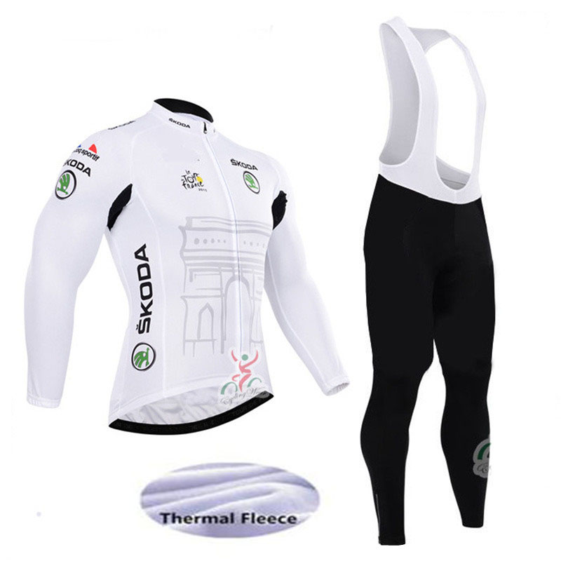 2017 Winter Thermal Fleece Pro Team Cycling Jersey Set Long Sleeve Bicycle Bike Clothing Cycle 9D Bib Pantalones Ropa Ciclismo black thermal fleece cycling clothing winter fleece long adequate quality cycling jersey bicycle clothing cc5081