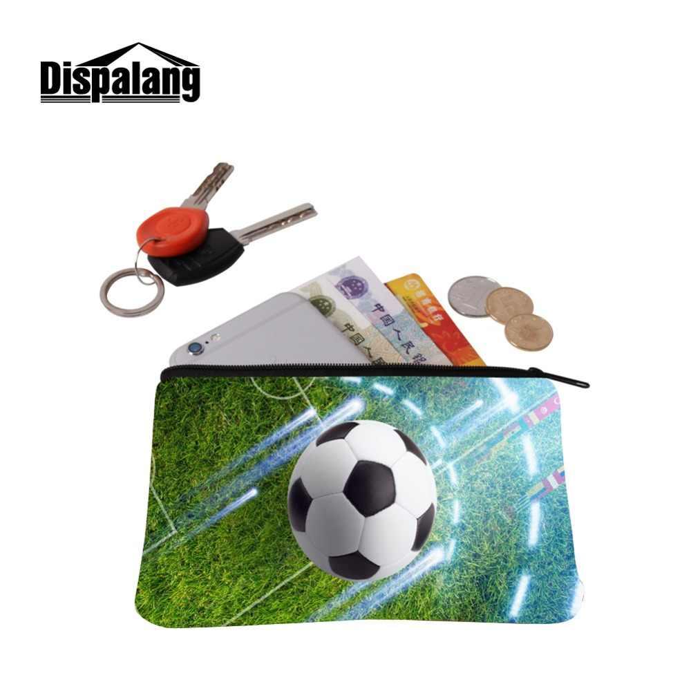 محفظة أطفال صغيرة محمولة للتسوق مصنوعة من كرات القدم وبكرات القدم وبسحاب صغير ومزودة بفتحات شحن مجانية
