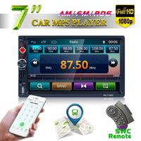 7 Inch 2 DIN Bluetooth Auto Multimedia Car Stereo MP5 Player GPS Navigation AM FM RDS Radio Support Mirror Link Rear View Camera
