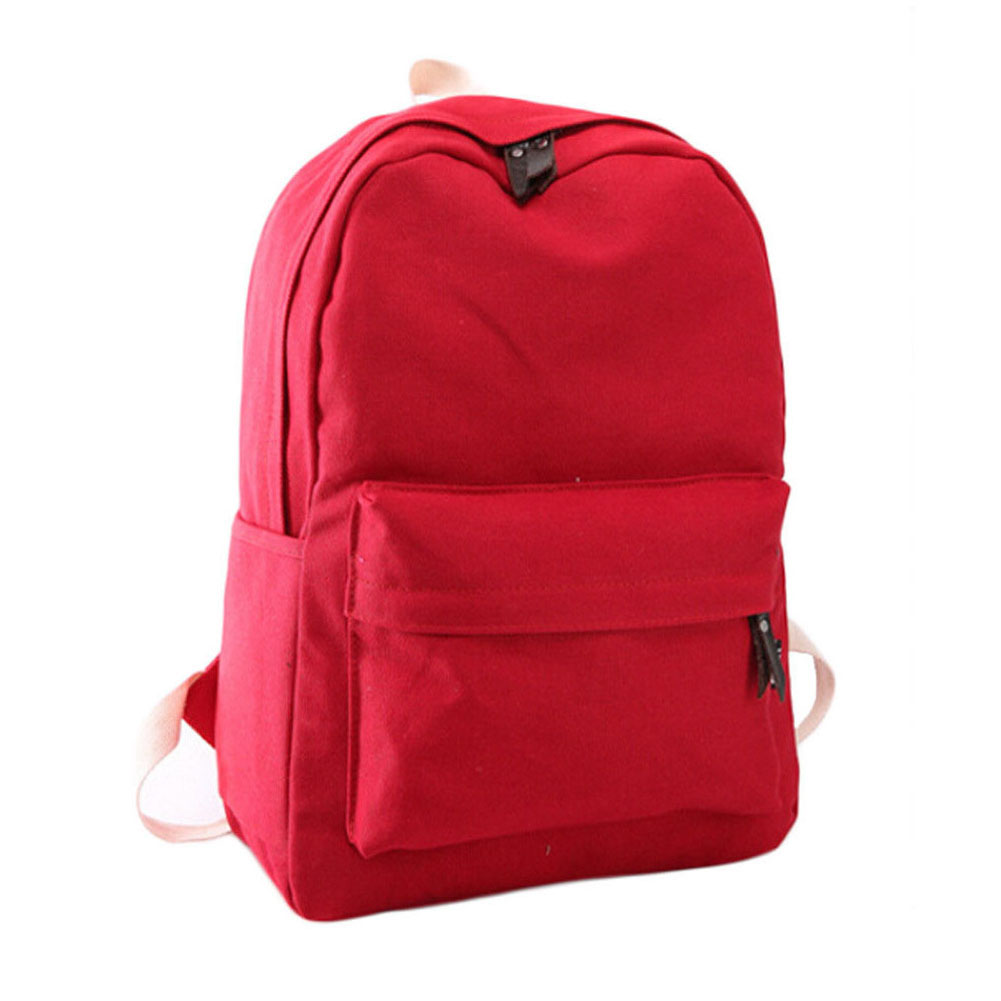 Girls Women Canvas School Bag Travel Backpack Satchel Shoulder Bag Rucksack LOT #6 Red backpack 2016 new fashion rucksack school shoulder bag unisex boys girls canvas students backpack casual women shoulder bag