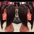 7А шелковый топ человеческих волос 130% короткий путь боб парик для чернокожих женщин 4X4 шелковый база L часть полный парик шнурка короткие парики для чернокожих женщин