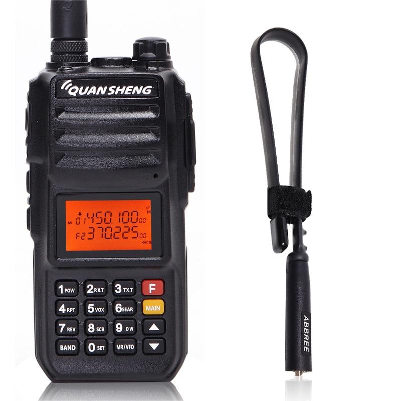 Quansheng TG-UV2 PLUS 10 w 5 Bandes 136-174 mhz/Police 350-390 mhz/400- 470 mhz 4000 mah Jambon Radio Talkie Walkie + Tactique Antenne